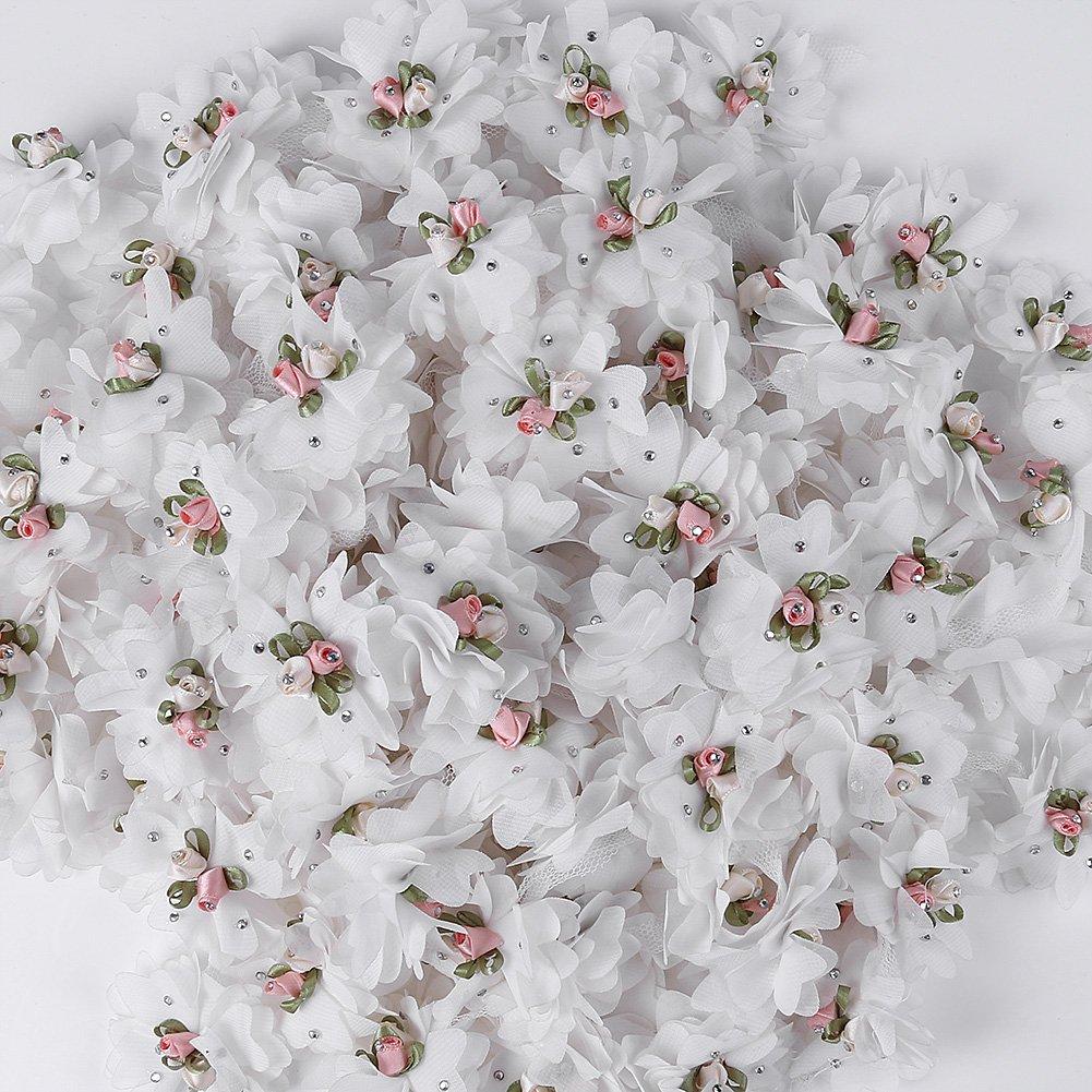smiry 1yards cuello de flores y ramas bordado cinta de encaje tela ...