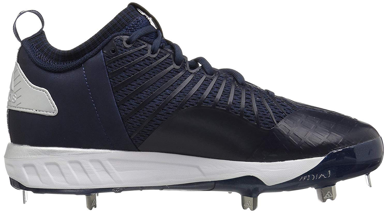 adidas Men's Freak X Carbon Mid Baseball Shoe, Collegiate Navy/White/Metallic Silver, 7.5 Medium US by adidas (Image #6)