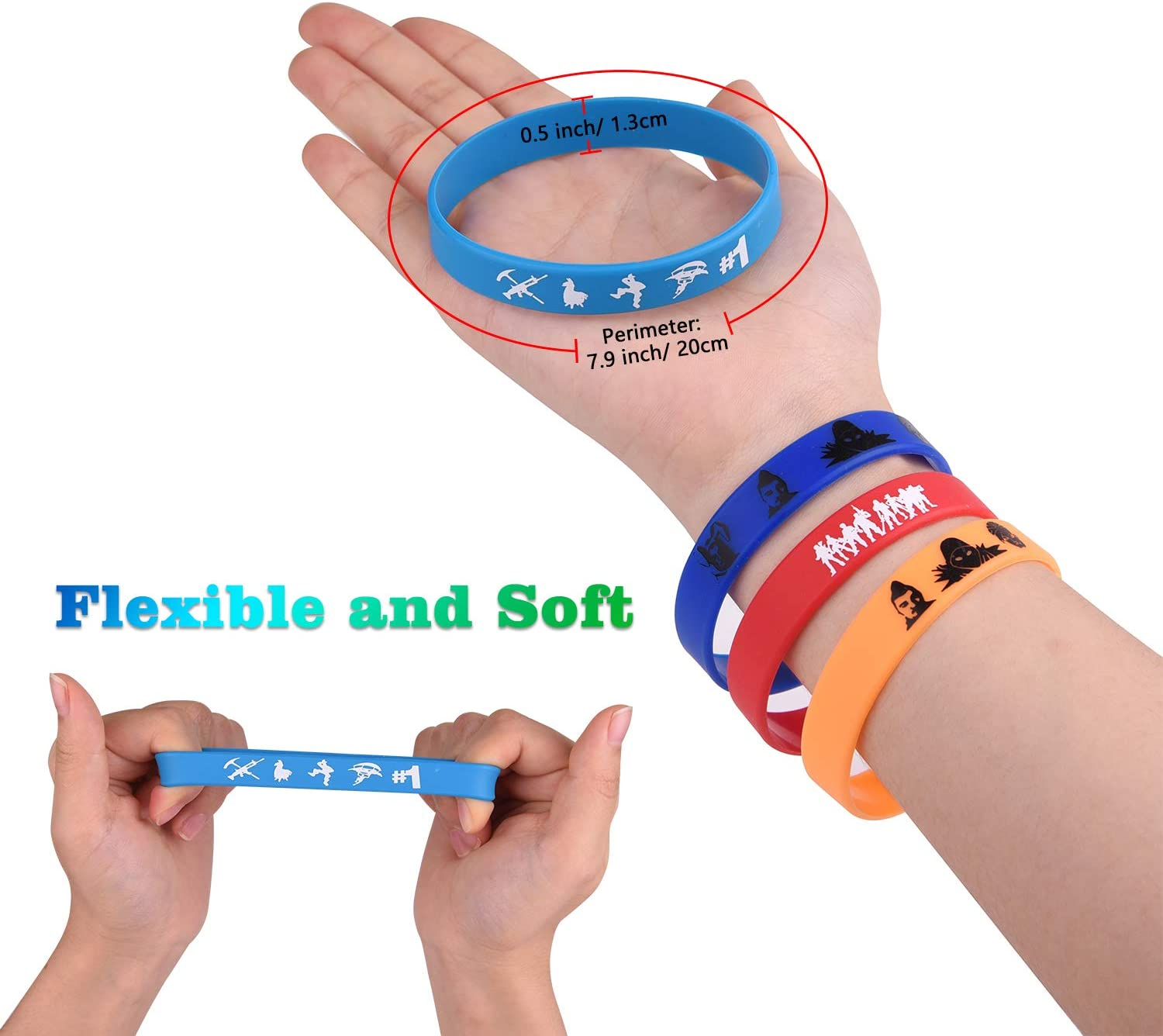 FEPITO 32 Pcs Gaming Party Supplies Bracelets for Kids Gamer Birthday Party Supplies Favors and Prize Rewards