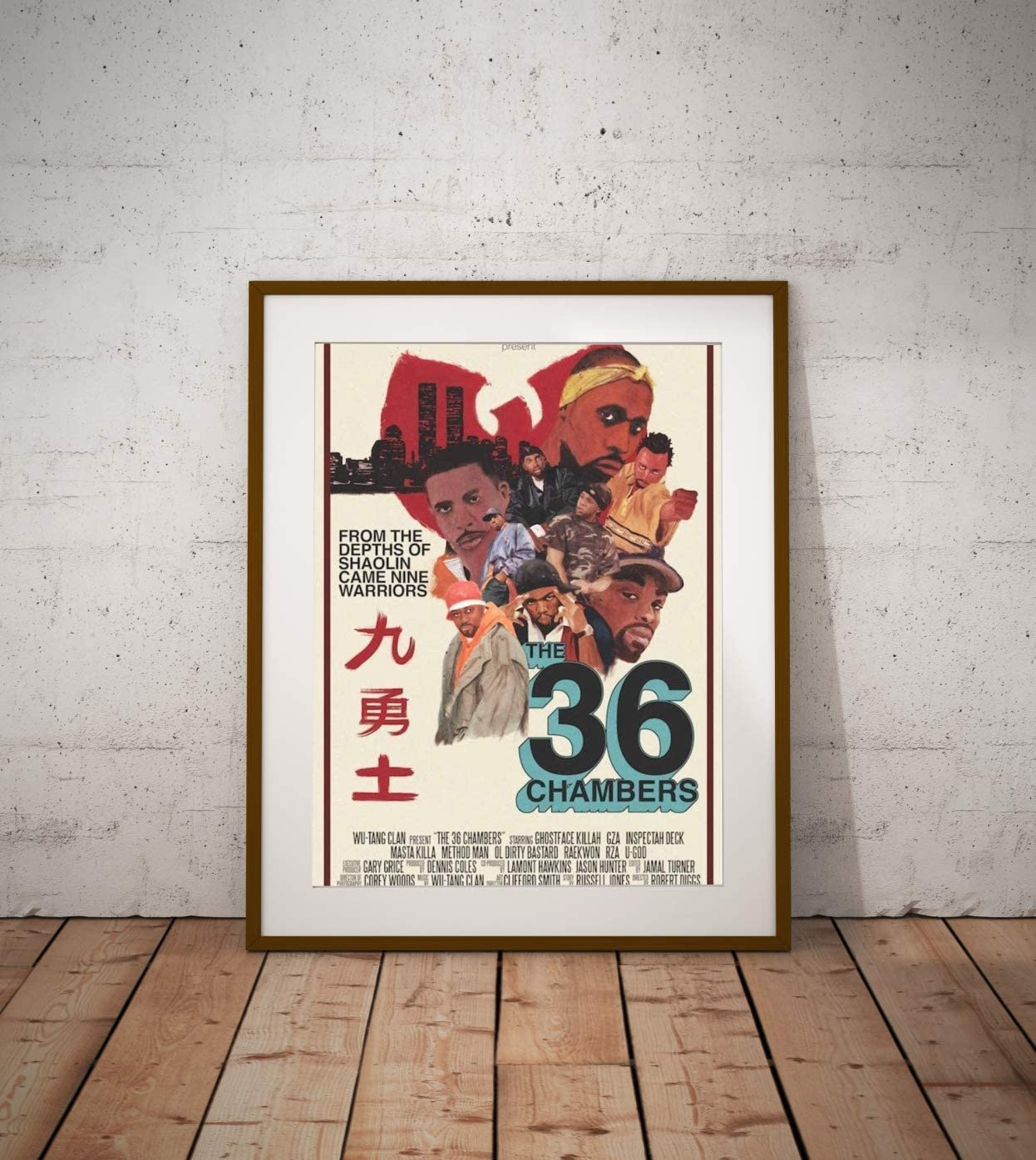 Poster Compatible With Wu Tang Clan 36 Chambers Album Art Print Unframed Wall Art Print Gift Printing Wall Decor Size - 11