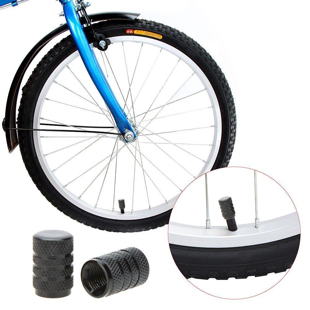 Valvola Schrader TOOGOO moto e auto con valvola Schrader kit da 2 Bicicletta Tappo valvola della gomma in lega Blu R