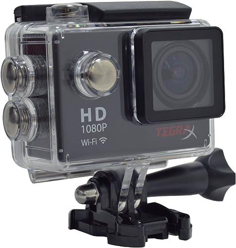 TEGRAX Action Camera 2 Screen Full HD 1080P 170 Degree Wide Angle 30 Meters Waterproof housing
