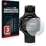 Savvies Verre Trempé Garmin Forerunner 735XT [3 Pack] Film Protection Ecran Protecteur Vitre - Dureté 9H
