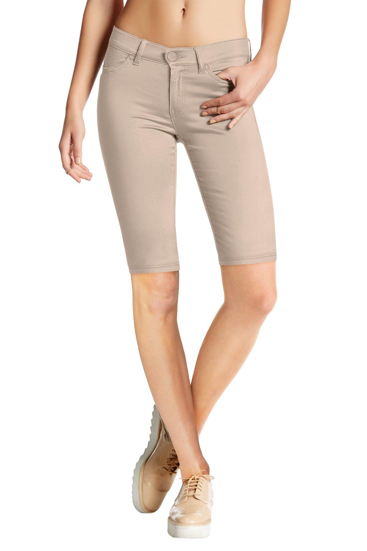 Womens Perfectly Shaping Hyper Stretch Bermuda Shorts B44876X Stone 1X