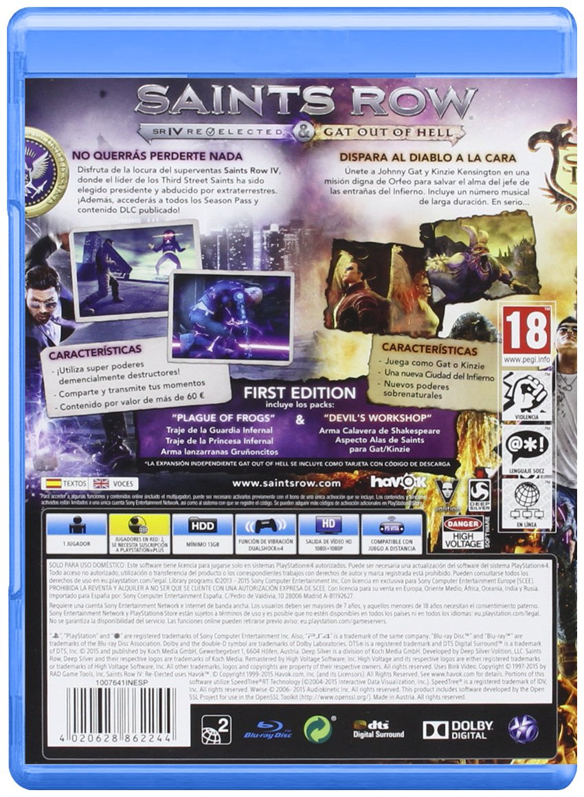 Saints Row IV: Re-Elected + Gat Out Of Hell - First Edition ...