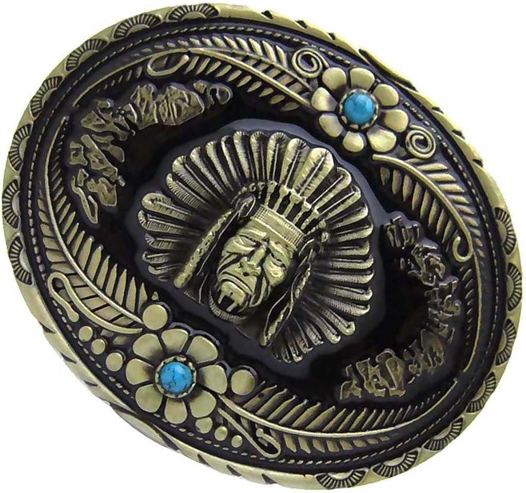 IPOTCH Hebilla de Cintur/ón Aleaci/ón de Zinc Estilo Antiguo de Vendimia para Pantalones Vaqueros Casuales