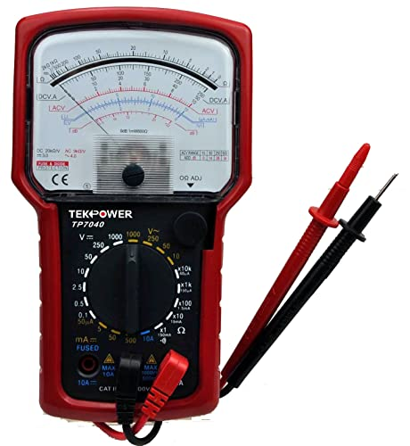 Tekpower TP7040 20-Range AC DC Analog Multimeter General Purpose with High Accuracy and Well Built Details, Strong Needle