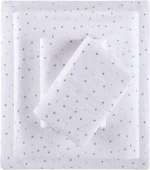 Amazon Com Intelligent Design Cozy 100 Cotton Flannel Novelty Print Animals Stars Cute Warm Ultra Soft Cold Weather Sheet Set Bedding Twin Xl Grey Pink Dots 3 Piece Home Kitchen
