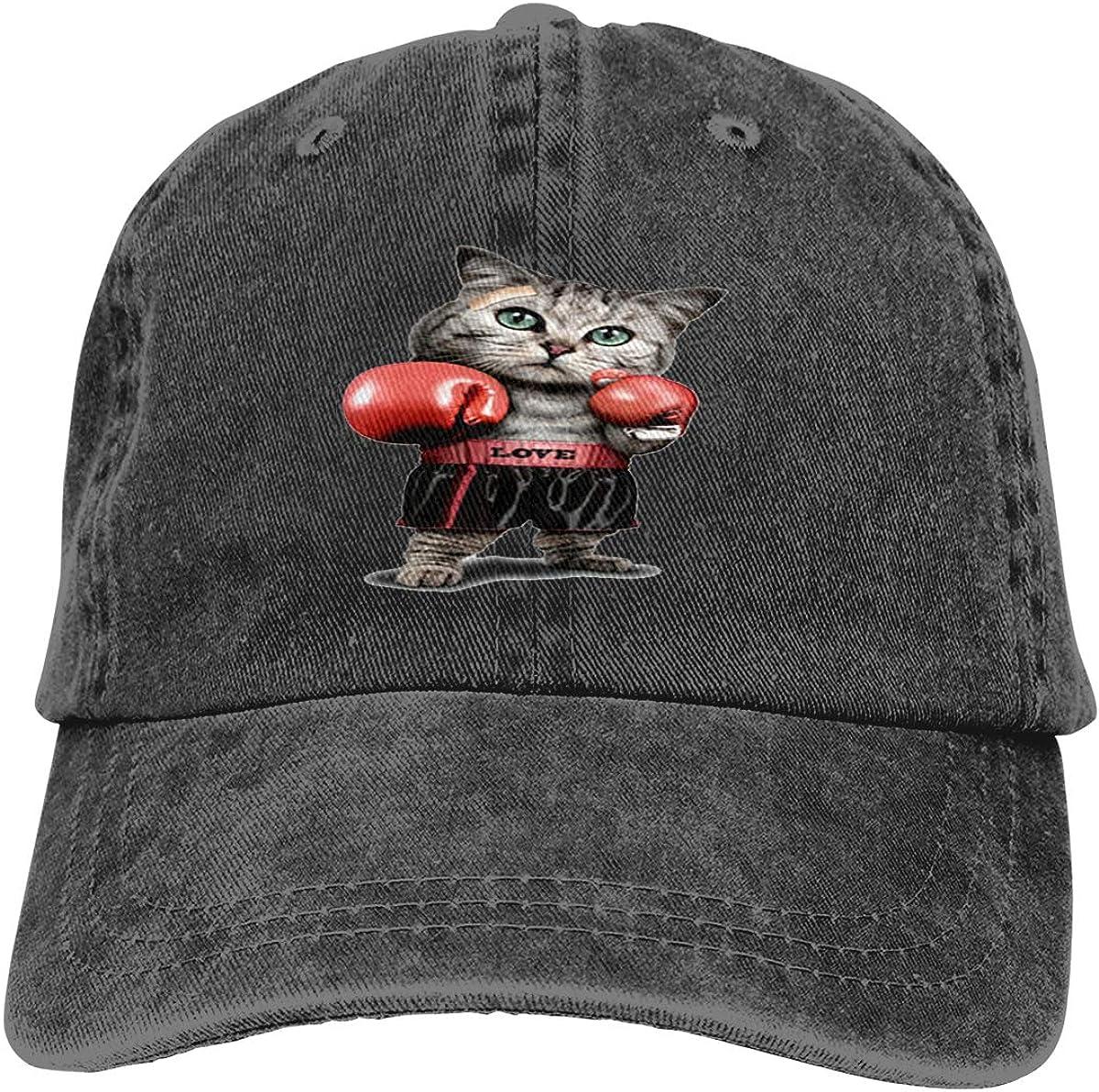 Boxing Gloves Denim Hat Adjustable Neutral Casual Baseball cap