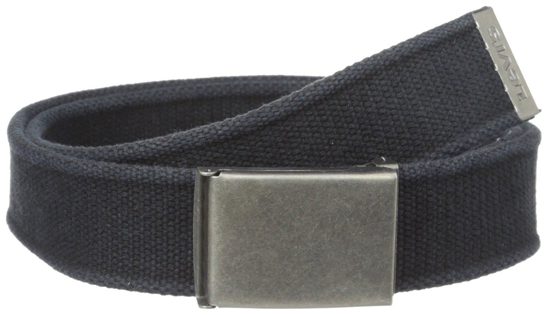 Levi's Men's Cotton Washed Web Belt,Black,One Size