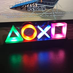 Paladone Pp4140ps Playstation Icons Retro Gaming Lamp Phasing Reacts To Music Ideal For Office Work Or Home Mood Night Light Multi Colour Amazon Co Uk Toys Games