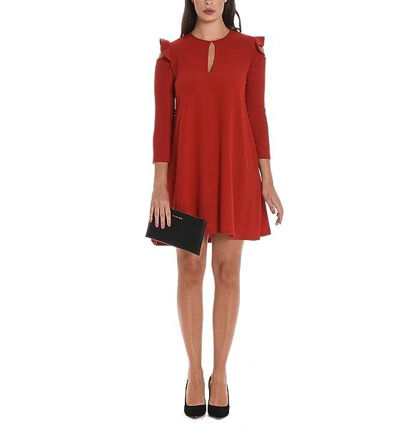 selezione premium 09e97 47c23 Suoli Vestito Donna S2617003379 Cotone Rosso: Amazon.it ...