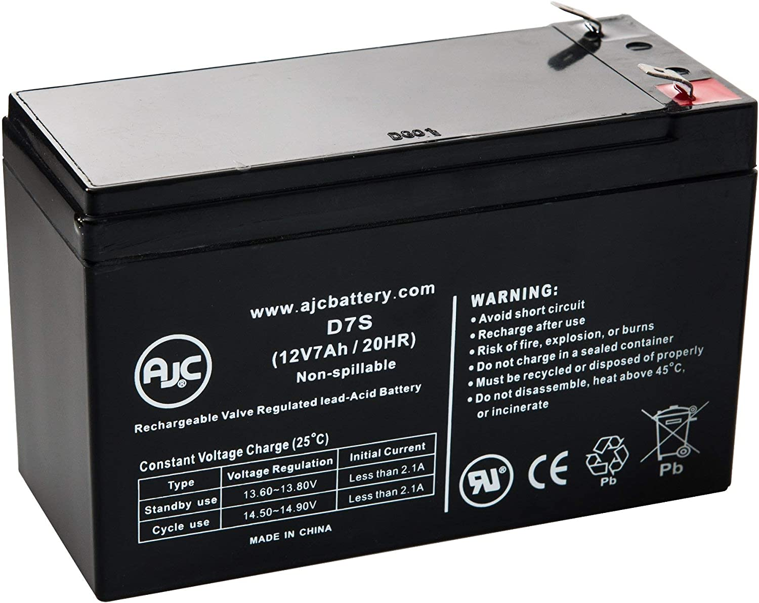 JohnLite CY-0112 12V 7Ah Emergency Light Battery This is an AJC Brand Replacement