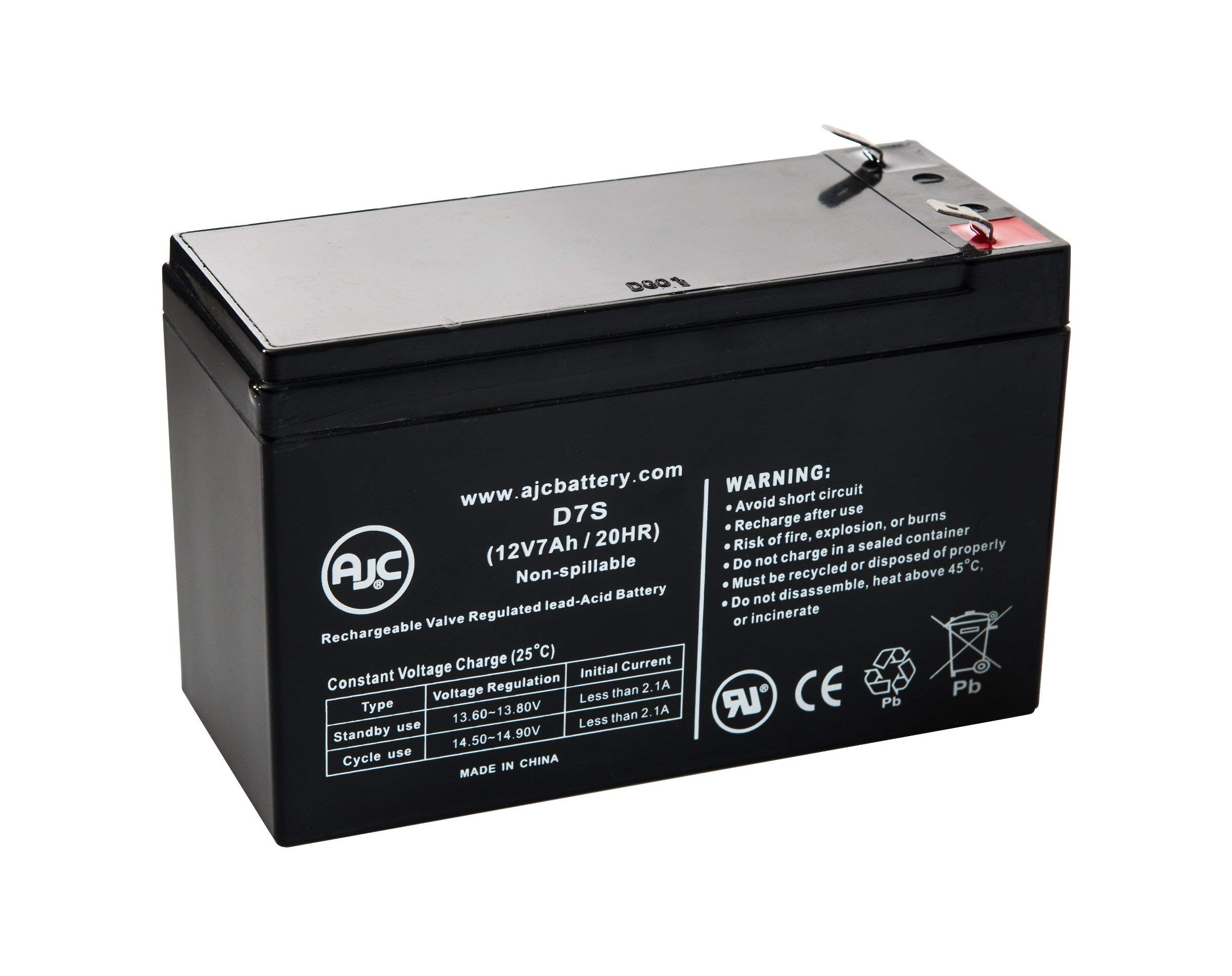 National NB12-7.5HR Sealed Lead Acid - AGM - VRLA Battery - This is an AJC Brand Replacement by AJC