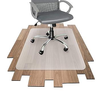 OfficeMarshal Alfombrilla Protectora - Estera para Silla de Oficina | Protector Suelo Semi-Transparente | Polipropileno | Varios tamaños (90x90 cm): ...