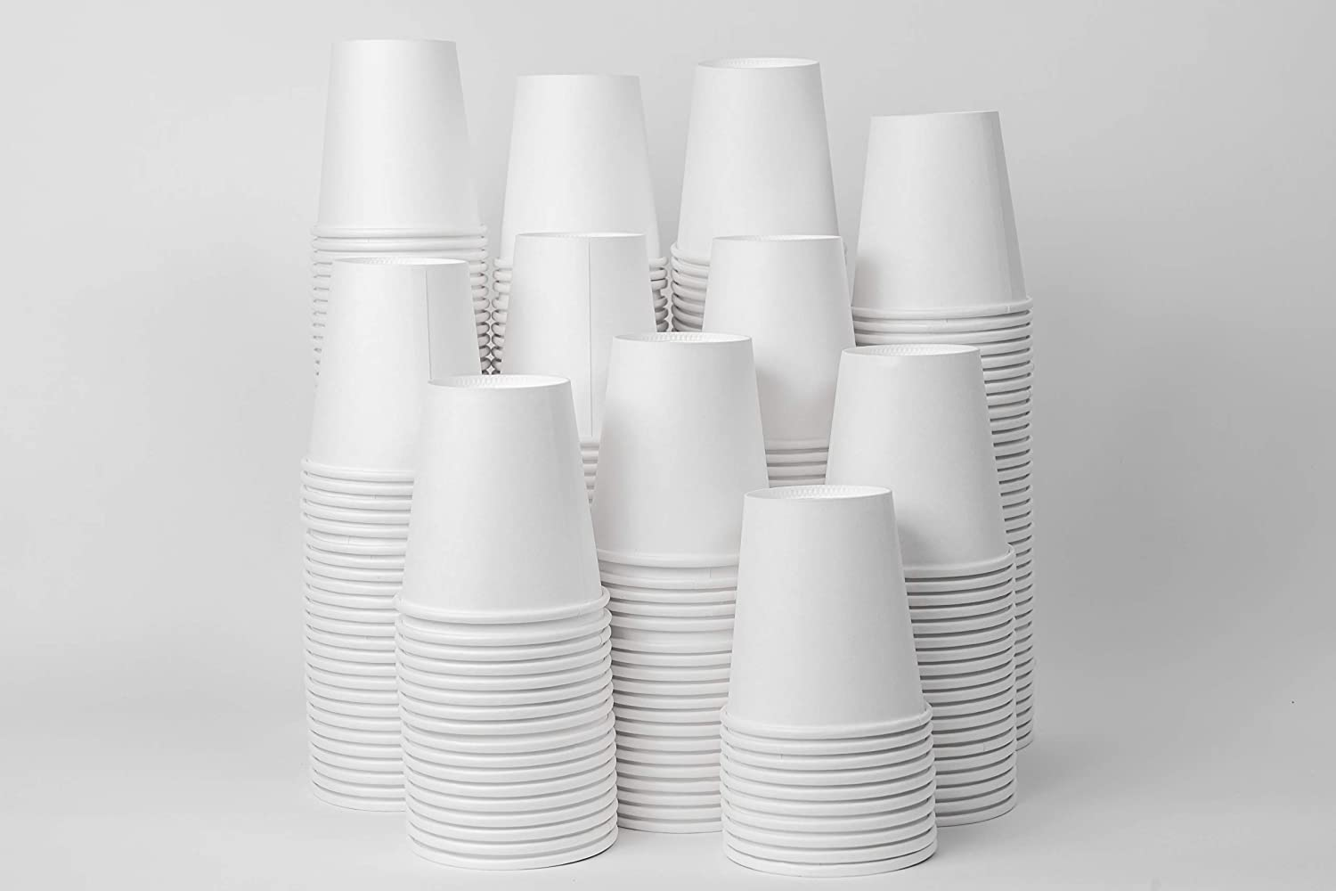 BPD 6oz Disposable Paper Cups for Beverages, Hot Coffee or Water Coolers. Package of 300.