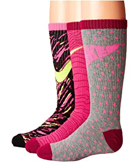 new concept 9076c b41f4 Nike Kids Graphic Lightweight Cotton Crew Little Kid Big Kid Multicolor Girls  Socks, Pack
