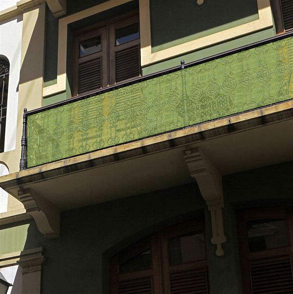 LIVEINU Frangivista e Telo Frangivento Protezione per Balconi con Occhiell Copertura per Balcone Terrazzo Giardino 75x600cm Giallo