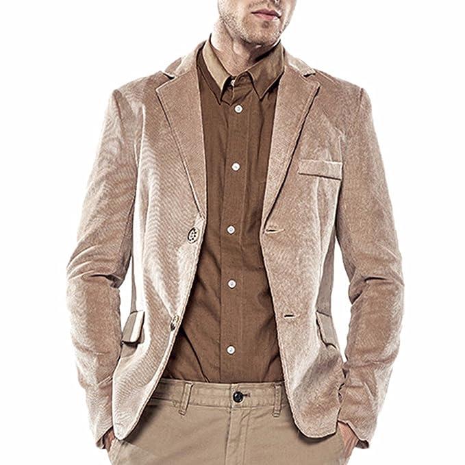 Z Los Hombres Forman Chaqueta De Abrigo Deportiva De Pana En Forma De Slim Fit Chaqueta Blazer: Amazon.es: Ropa y accesorios