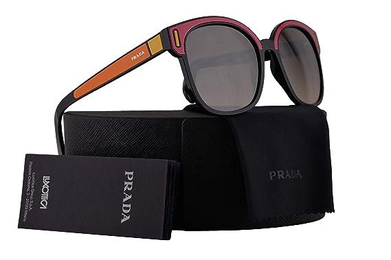 a203de557ef6 Amazon.com  Prada PR05US Sunglasses Black Fuxia Yellow w Brown ...