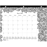 Blueline 2017 Academic Monthly Coloring Mini Desk Pad, Botanica, August to July, 11 x 8.5 inches (CA2917211-17)