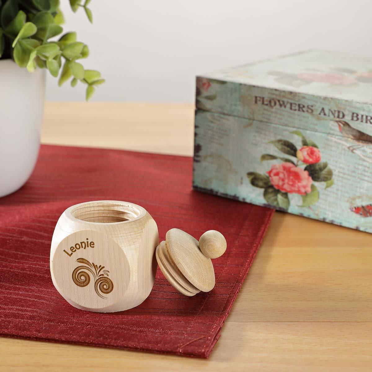 polar-effekt Milchzahndose oder Haar Dose aus Holz mit Gravur Personalisierte Baby Zahnbox f/ür Milchz/ähne als Geschenke f/ür Jungen und M/ädchen Motiv Wirbelwind Erste Haar Locke