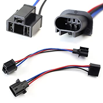 71iPdem3paL._SY355_ amazon com ijdmtoy (2) h13 9008 to h4 9003 pigtail wire wiring