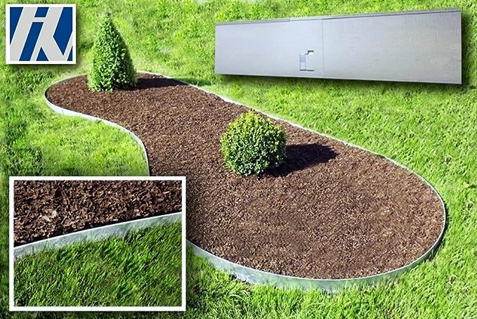 Bordes de jardín de metal galvanizado para Césped 120x13, 5 cm ...
