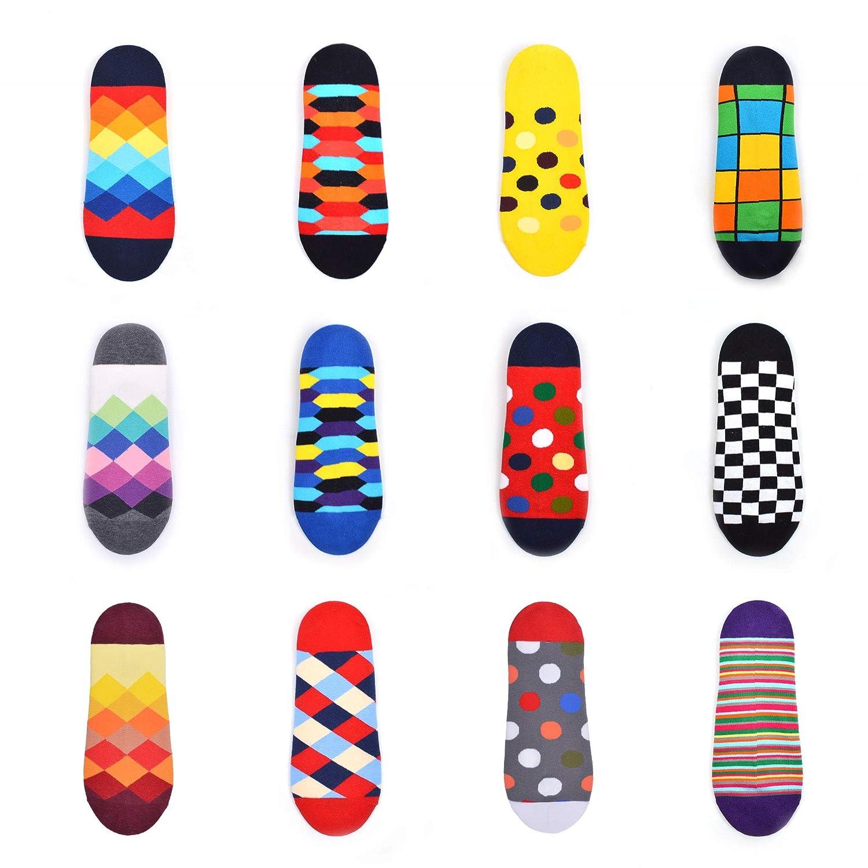 WeciBor Calcetines cortos Hombre Estampados Hombres Ocasionales Calcetines Divertidos Impresos de Algod/ón de Pintura de Arte Calcetines Verano Tobillo Calcetines de Colores de moda