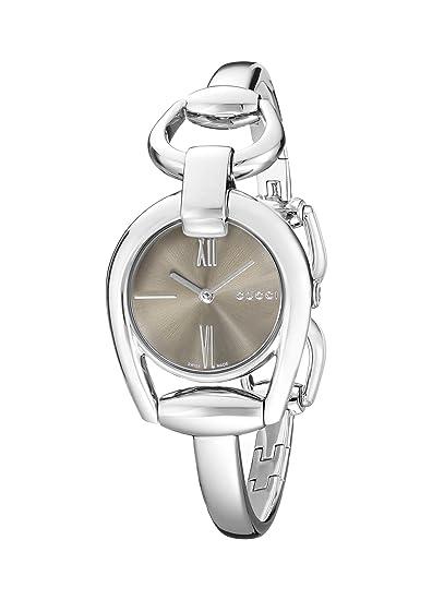 Gucci YA139501 - Reloj de cuarzo para mujer, con correa de acero inoxidable, color