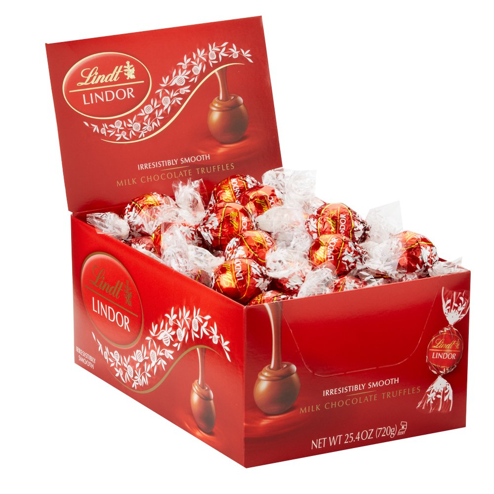 Amazon.com : Lindt LINDOR Milk Chocolate Truffles, 60 Count Box ...