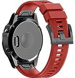 ANCOOL for Garmin Fenix 5 Band Easy Fit 22mm Width Soft Silicone Watch Strap for Garmin Fenix 5