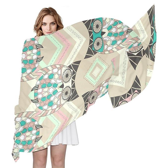 COOSUN Patrón Búho lindo con la bufanda de seda nativa Elementos ...