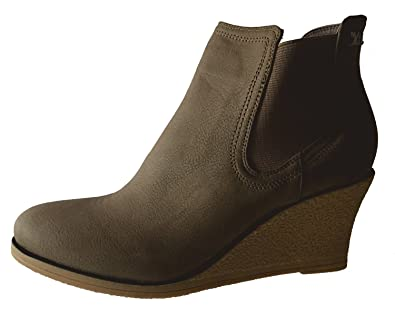 597028c0f9f Image Unavailable. Image not available for. Color  Xti Women s Taupe Wedge  Ankle Boot ...