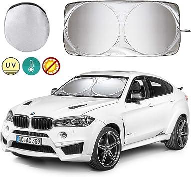Windshield Sun Shade , Maximum UV and Sun Protection Universal Large Silver Car Windscreen Windshield