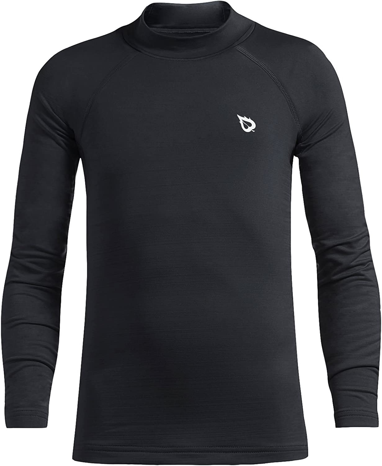 BALEAF Youth Boys' Compression Thermal Shirt Fleece Baselayer Long Sleeve Mock Top: Clothing