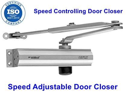 MADHULI R-World Hydraulic Door Closer Heavy Duty Aluminum Hydraulic Door Closer 1-Year PC to PC (Range of Door Closers Available:)