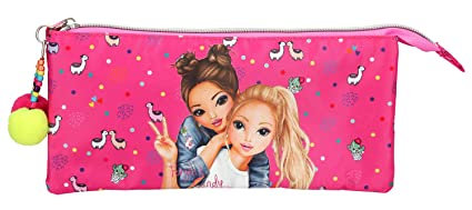 Amazon.com: Depesche TopModel Alpaca 10355 Pencil Case Pink ...