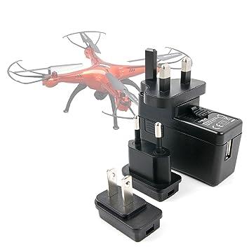 DURAGADGET Kit De Adaptadores con Cargador para Dron Walkera ...
