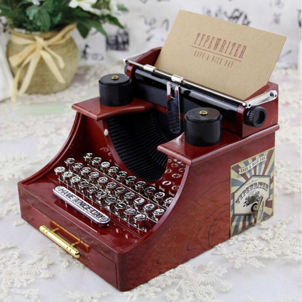 smartcoco Vintage máquina de escribir caja de música creativa regalos/casa/oficina/sala de estudio Decoración: Amazon.es: Hogar