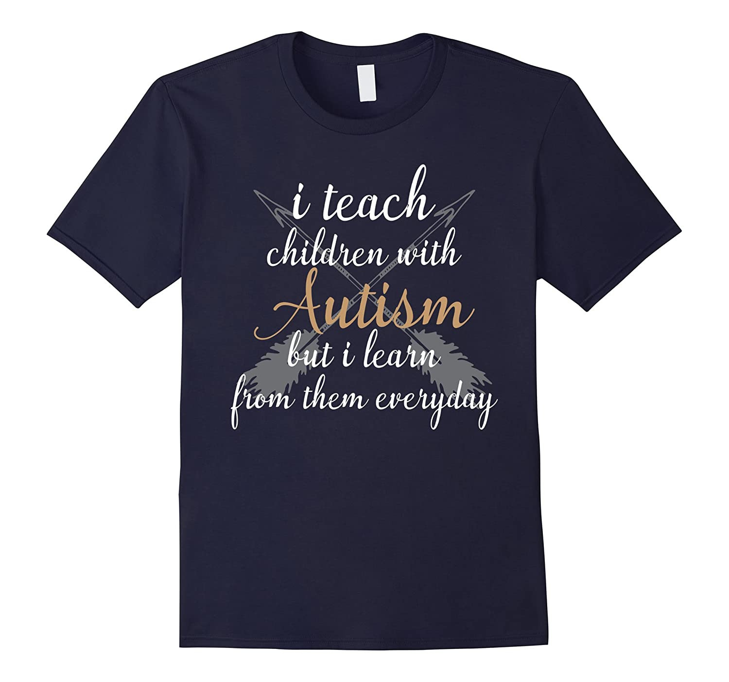 I Teach Awesome Kids Autism Awareness Gift T-Shirt-TH