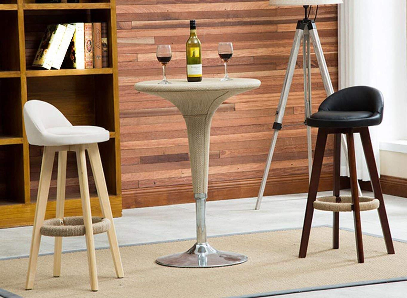 fec6321969e5 Amazon.com  Useful Home Furniture European Style Solid Wood bar Chair  Simple high Chair Reception Chair KTV bar Stool Vintage American high Stool  (Color   M ...