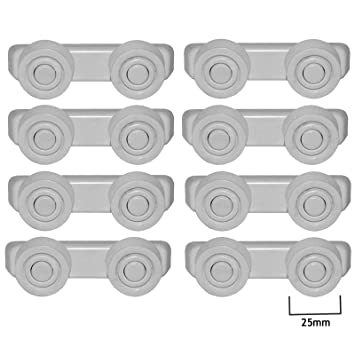 Spares2go cesta cajones y raíl Runner ruedas de soporte y soportes ...