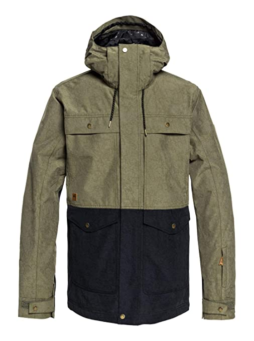 Quiksilver - Chaqueta Militar para Nieve - Hombre - S - Marrón