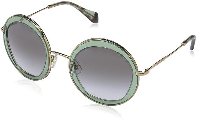 Miu Miu 0MU50QS TWN1E0 52 Gafas de Sol, Verde (Transparent ...