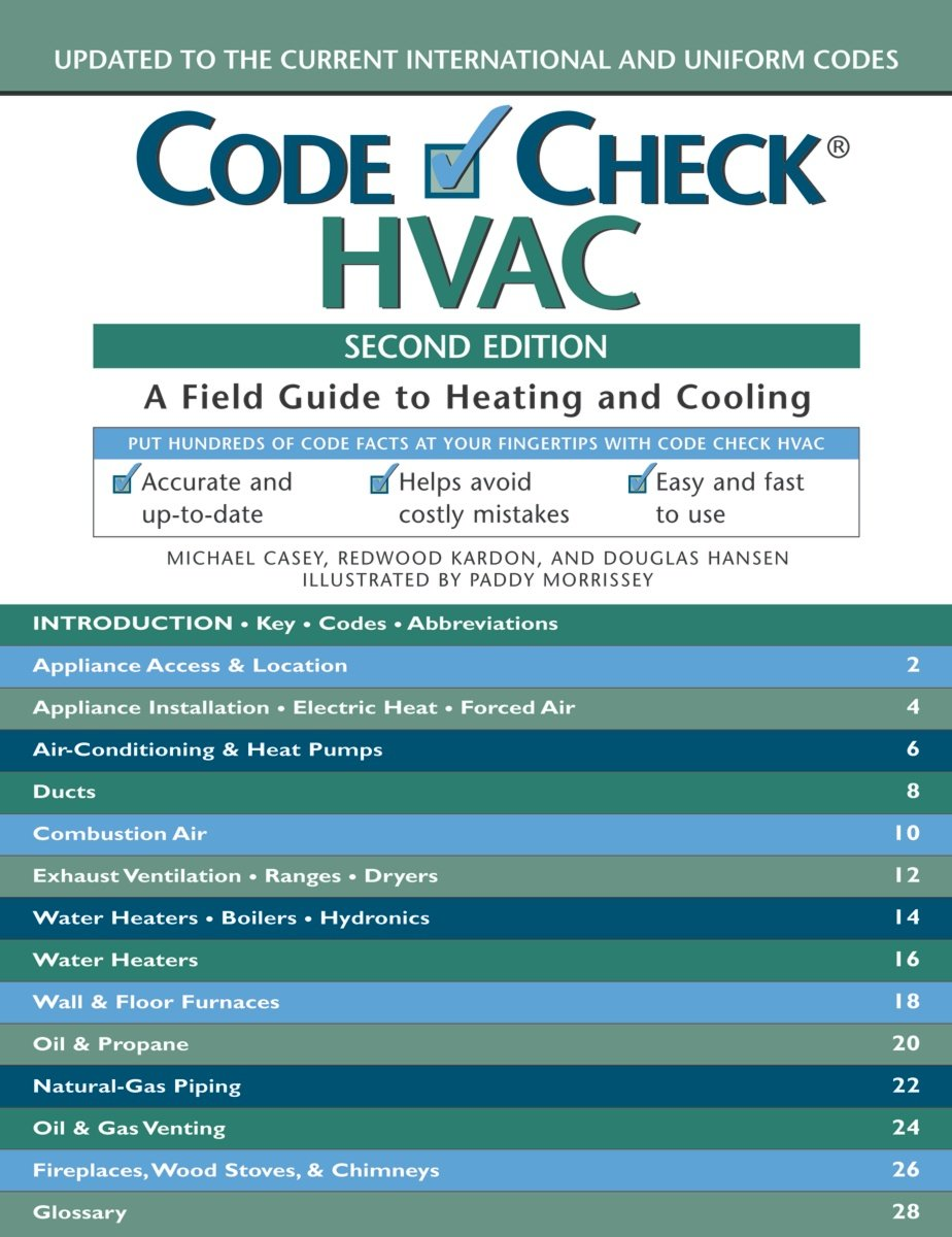 Code Check HVAC: An Illustrated Guide to Heating and Cooling ...