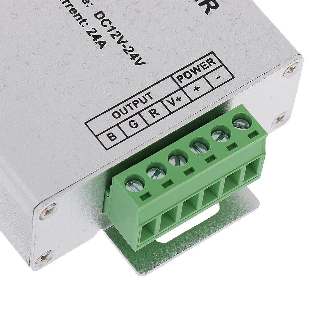 MagiDeal DC12V-24V 24A Signal RGB Drahtloser Verst/ärker Daten Repeater F/ür LED-Beleuchtung