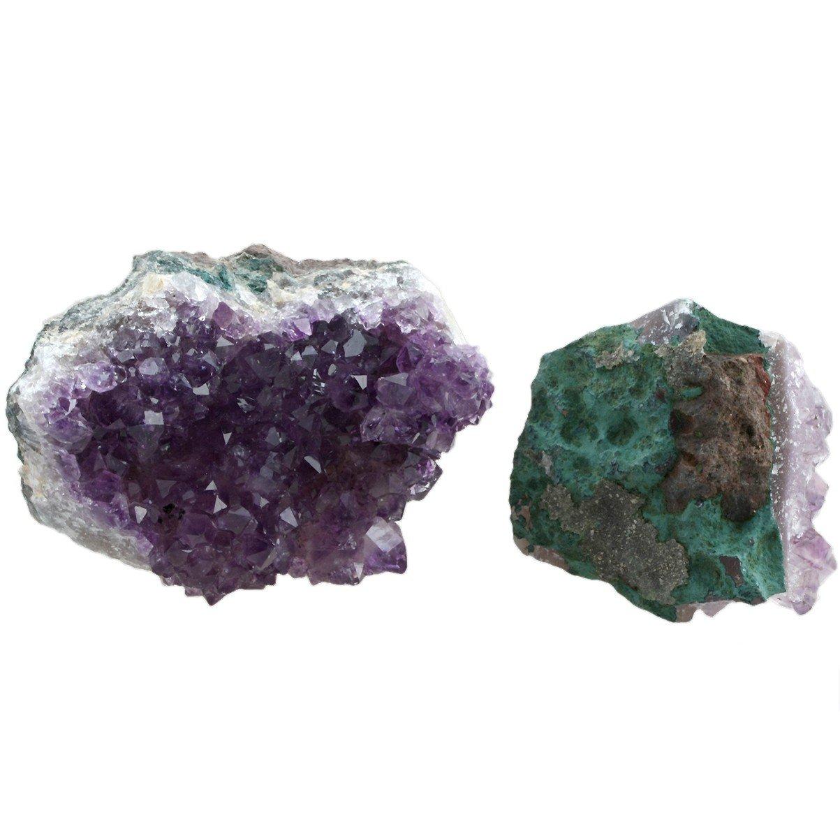 Small Montatura a Cluster con Cristalli Shanxing Ametista Naturale Misura s/_l