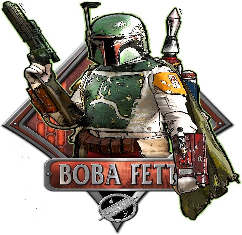Silver Buffalo SW8306 Disney Star Wars Boba Fett Shooting Episode 6 Wood Wall Art, 13 x 9.5 inches