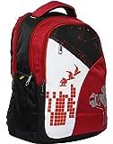 GOOD FRIENDS Polyester 30 Ltr Red & Black School Bag